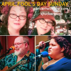 Online Show: Sooj, Renée, & Cheshire Moon's April Fool's Day Sunday Jam! @ Sooj's Concert Window channel