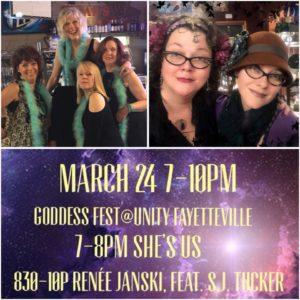 NW AR: Supporting Renée Janski at Goddess Festival! @ Unity of Fayetteville | Fayetteville | Arkansas | United States