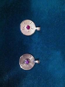 labyrinth pendants!