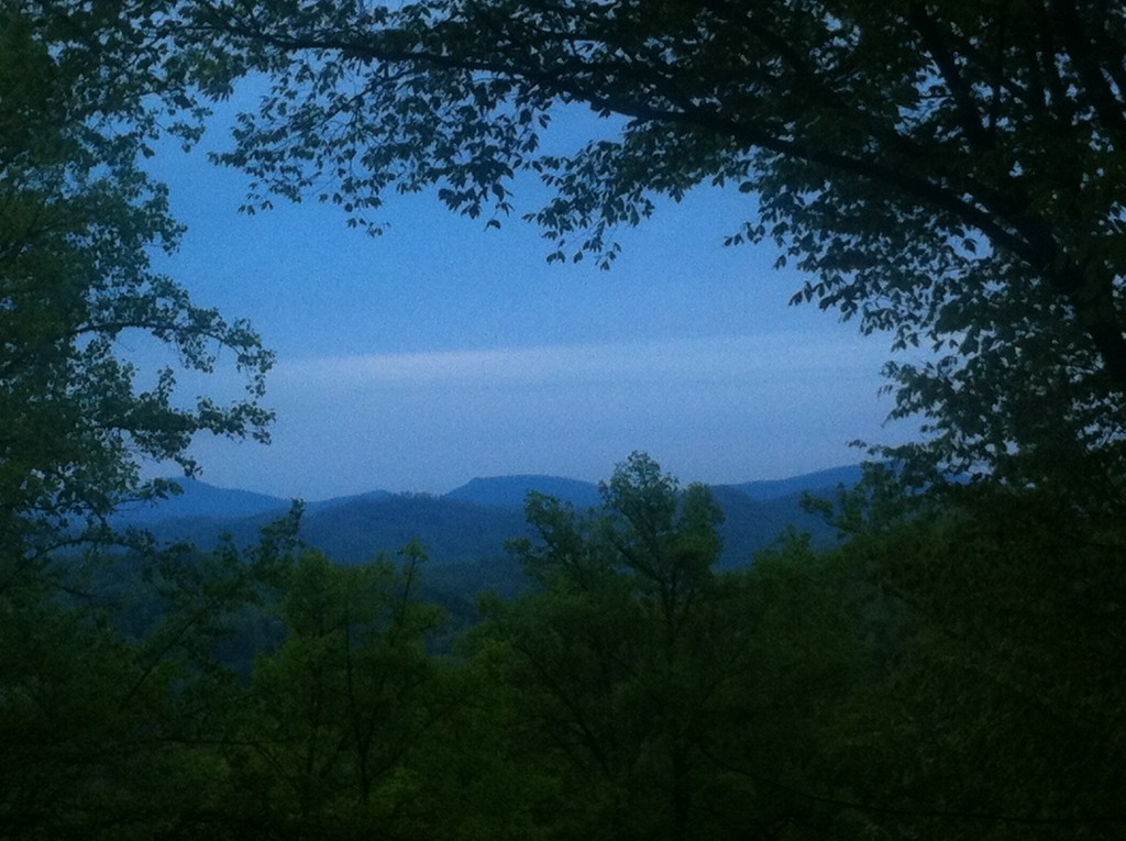 Our cabin in Franklin, NC had a lovely view.